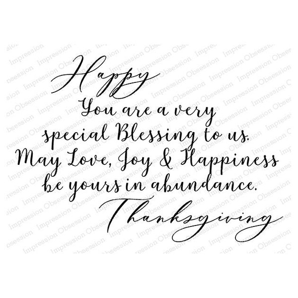 Special Blessing, Impression Obsession Cling Stamps - 845638024796