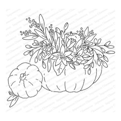 Bountiful Pumpkin, Impression Obsession Cling Stamps - 845638024932