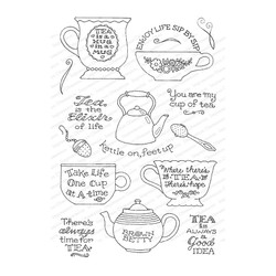 Time for Tea, Impression Obsession Clear Stamps - 845638027001