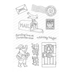Merry Mail, Impression Obsession Clear Stamps - 845638027032
