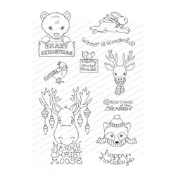 Christmas Critters, Impression Obsession Clear Stamps - 845638027049