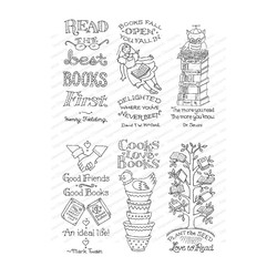 Bookmark Buddies, Impression Obsession Clear Stamps - 845638027056