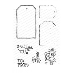 Gift Tags, Impression Obsession Clear Stamps - 845638027094