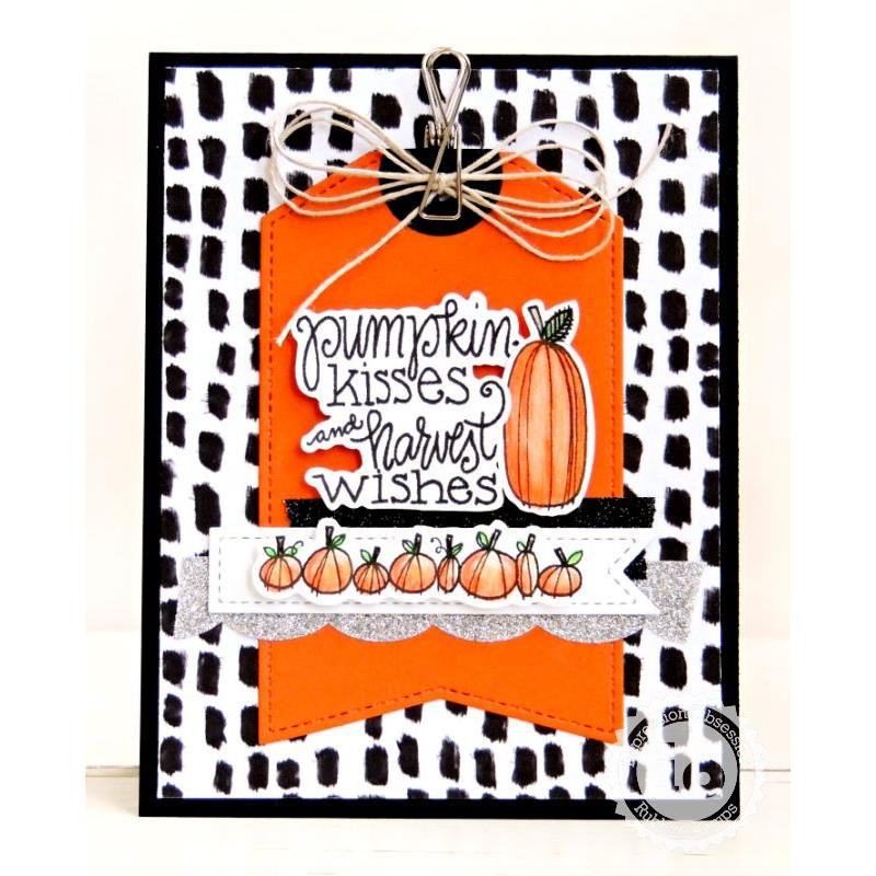 Pumpkin Kisses, Impression Obsession Clear Stamps - 845638027148