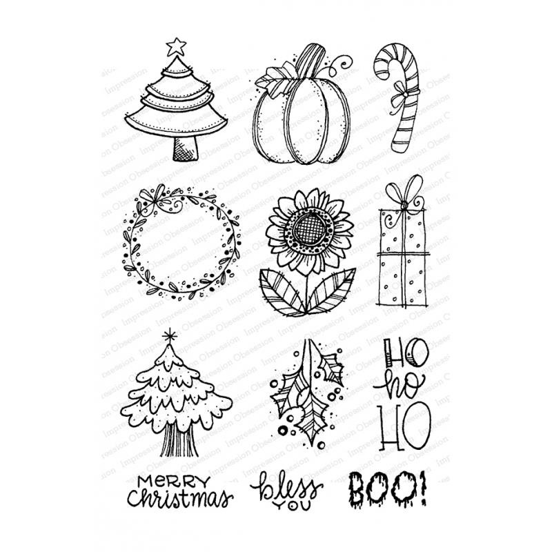 Holiday Icons, Impression Obsession Clear Stamps - 845638027155