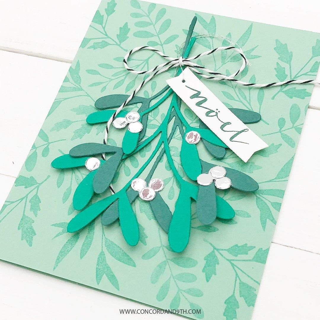 Mistletoe Messages, Concord & 9th Clear Stamps - 090222400849