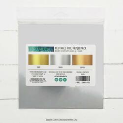 Neutrals Foil, Concord & 9th Paper Pack - 090222400863