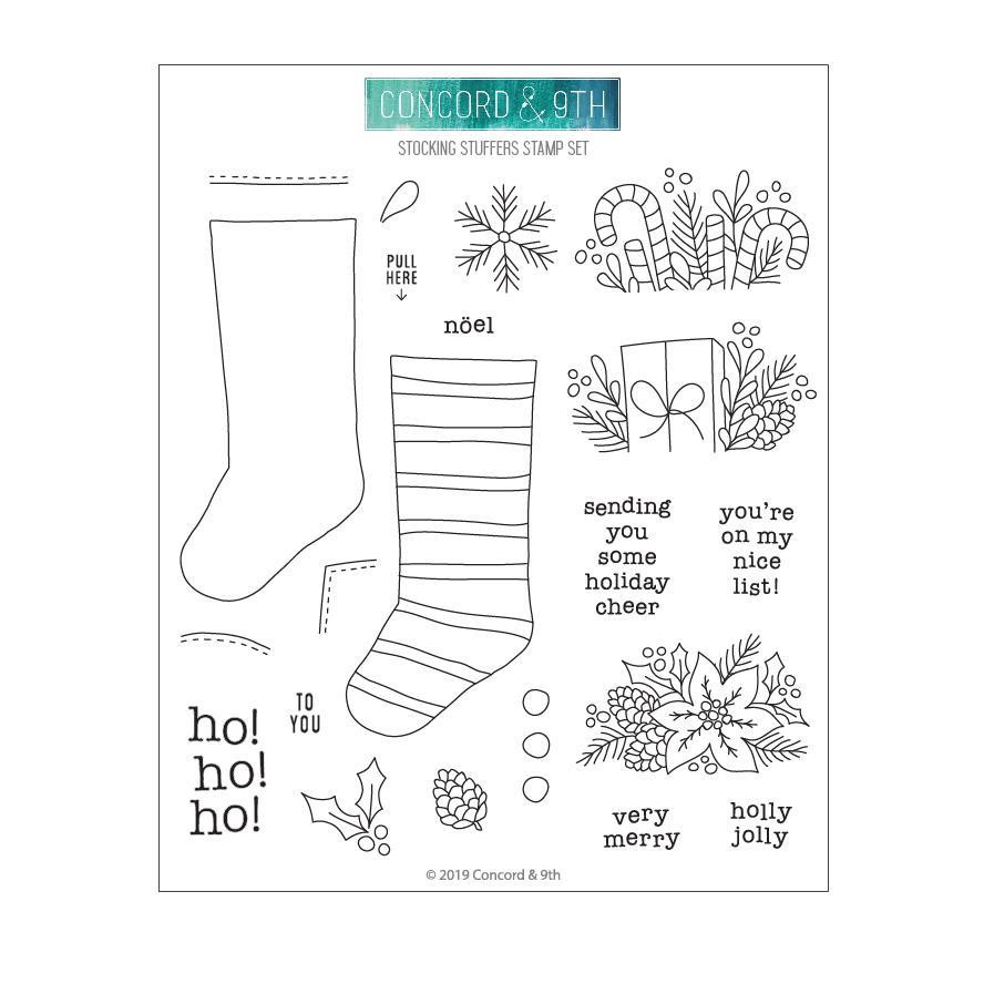 Stocking Stuffers, Concord & 9th Clear Stamps - 090222400894