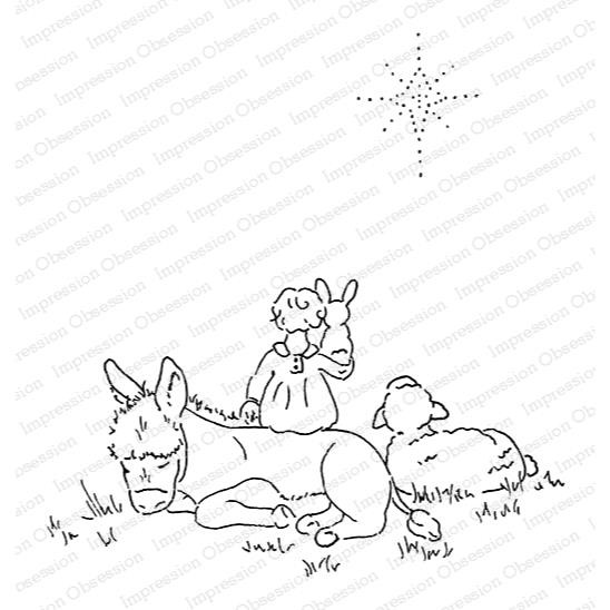 Heavenly Peace Scene, Impression Obsession Cling Stamps - 845638025144