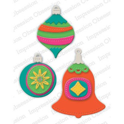 Retro Ornaments, Impression Obsession Dies - 845638028336
