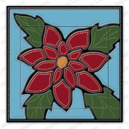 Quilted Poinsettia, Impression Obsession Dies - 845638028329