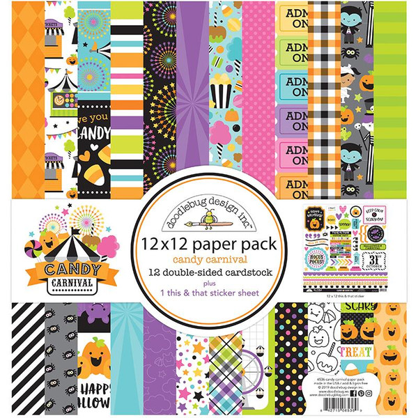 Candy Carnival, 12 X 12 Paper Pack - 842715065369