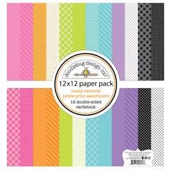Candy Carnival Petite Print Assortment, 12 X 12 Paper Pad - 842715065376