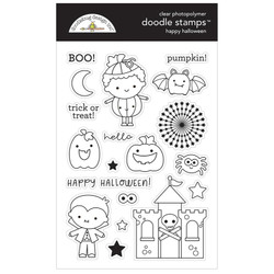 Happy Halloween, Doodlebug Clear Stamps - 842715064751
