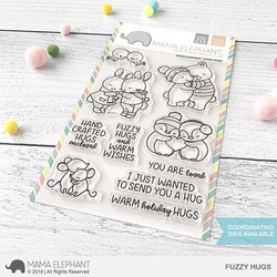 Fuzzy Hugs, Mama Elephant Clear Stamps -