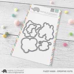 Fuzzy Hugs, Mama Elephant Creative Cuts -