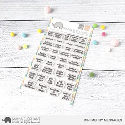Mini Merry Messages, Mama Elephant Clear Stamps -