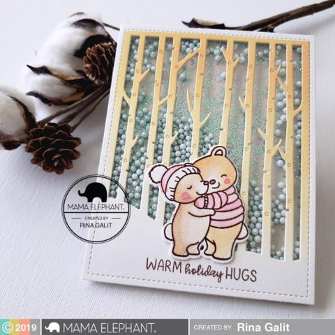 Winter Forest Cover, Mama Elephant Creative Cuts -
