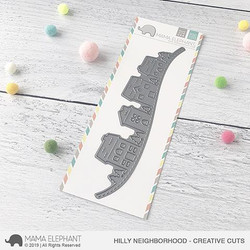 Hilly Neighborhood, Mama Elephant Creative Cuts -