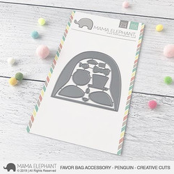 Favor Bag Accessory - Penguin, Mama Elephant Creative Cuts -
