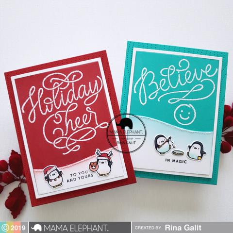 Written In The Snow, Mama Elephant Clear Stamps -