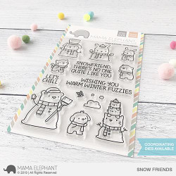 Snow Friends, Mama Elephant Clear Stamps -