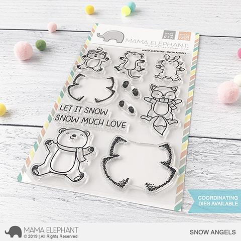 Snow Angels, Mama Elephant Clear Stamps -