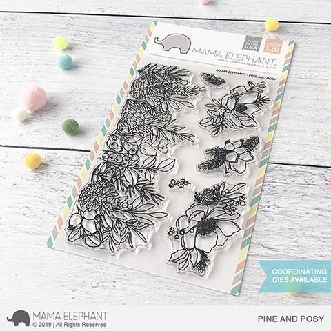Pine And Posy, Mama Elephant Clear Stamps -