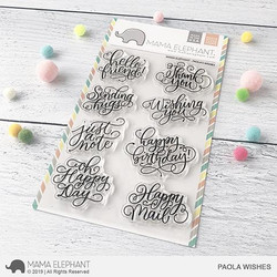Paola's Wishes, Mama Elephant Clear Stamps -