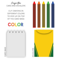 Small Crayon Box Card, Honey Cuts Dies - 652827605069