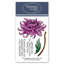 Chrysanthemum Flower, Technique Tuesday Clear Stamps - 811784020623