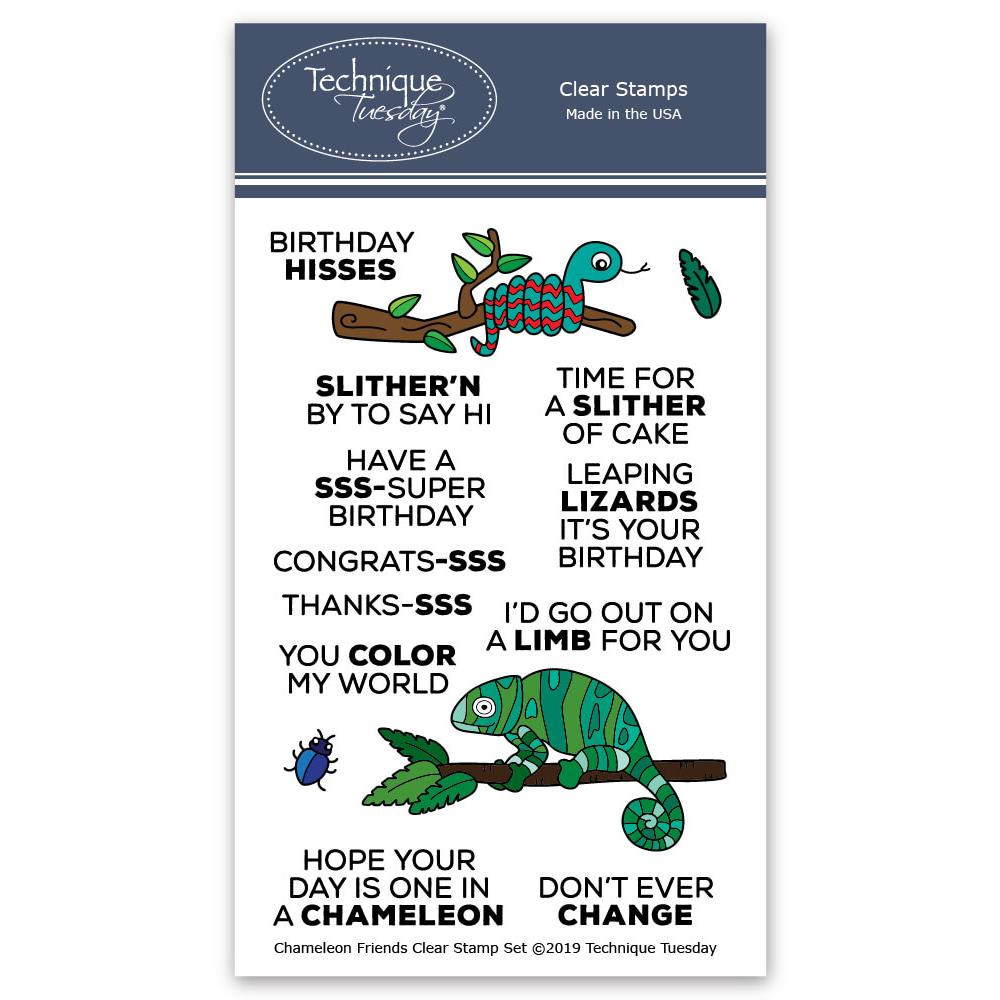Chameleon Friends, Technique Tuesday Clear Stamps - 811784028070