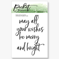 Christmas Wishes, Picket Fence Studios Clear Stamps - 745558000835