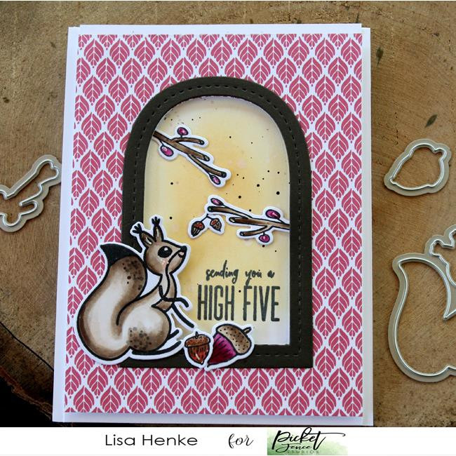 A Little Nuts, Picket Fence Studios Clear Stamps - 745558002426
