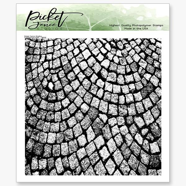 Cobblestone Path, Picket Fence Studios Clear Stamps - 745558004666