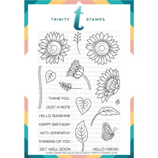 Sunflower Bouquet Builder, Trinity Stamps Clear Stamps -