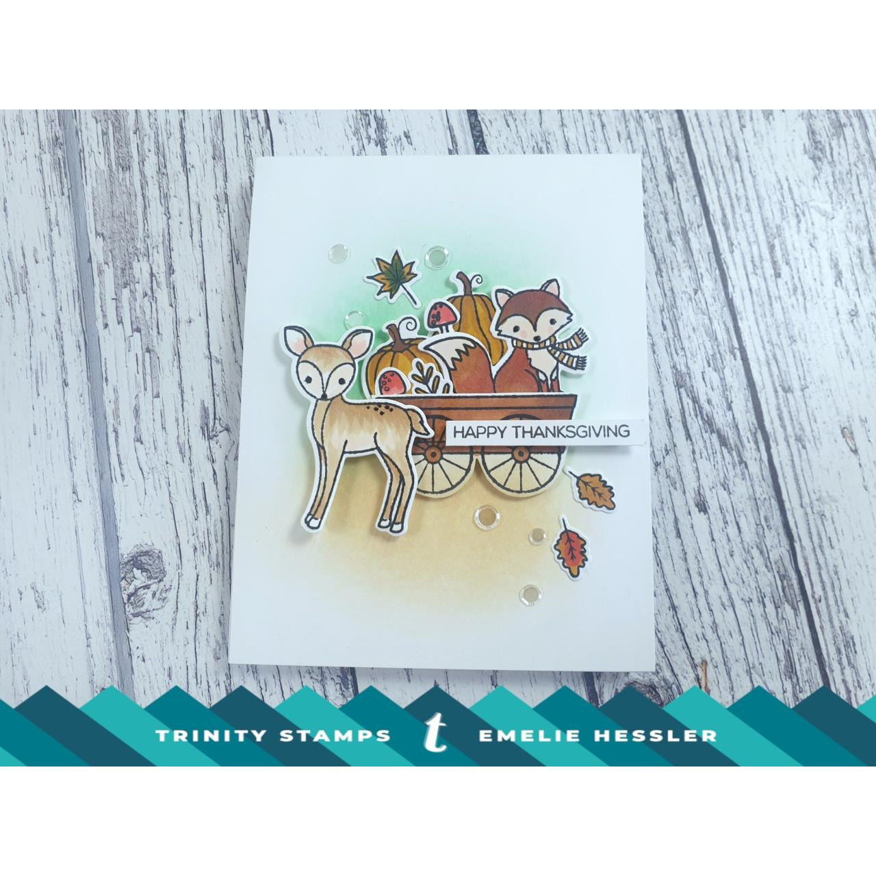 Autumn Forest Friends, Trinity Stamps Clear Stamps -