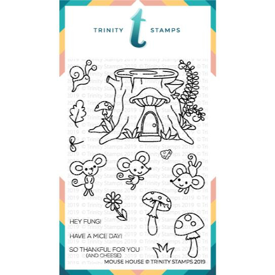 Mouse House, Trinity Stamps Clear Stamps -