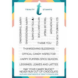 Autumn Sentiments, Trinity Stamps Clear Stamps -