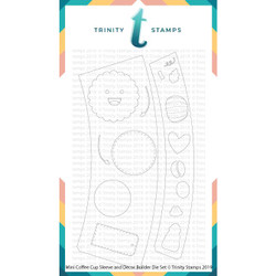 Mini Coffee Cup, Sleeve, and Decor, Trinity Stamps Dies -