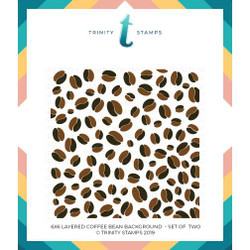 Layered Coffee Bean Background, Trinity Stamps Stencils -