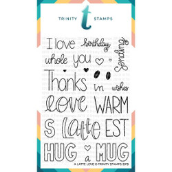 A Latte Love, Trinity Stamps Clear Stamps -