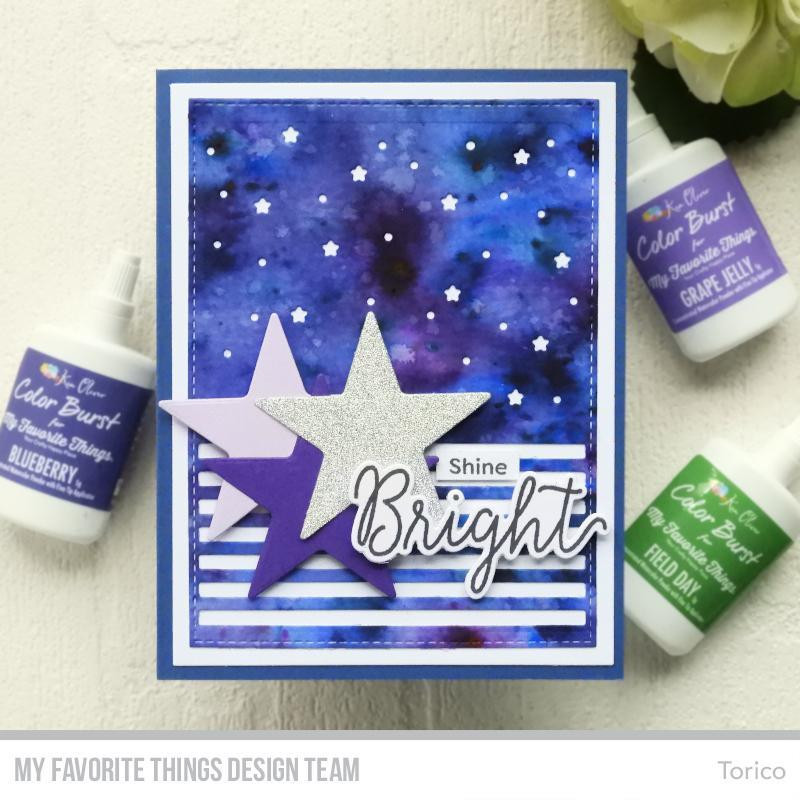 Starry Night Sentiments, My Favorite Things Clear Stamps - 849923031780