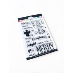 Merry Christmas Angel, Catherine Pooler Clear Stamps -     819447025350