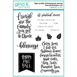 Happy Fall, Gina K Designs Clear Stamps - 609015540725