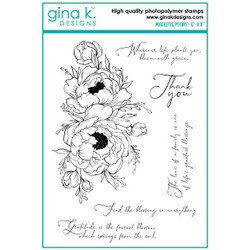 Majestic Peony, Gina K Designs Clear Stamps - 609015540732