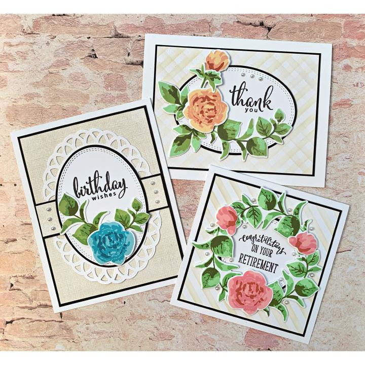 Pop Art Flowers, Gina K Designs Clear Stamps - 609015540794