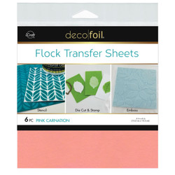 Pink Carnation, Deco Foil Flock Transfer Sheets - 943055570