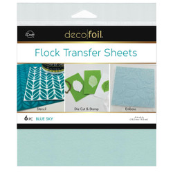Blue Sky, Deco Foil Flock Transfer Sheets - 943055587