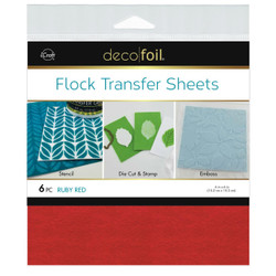 Ruby Red, Deco Foil Flock Transfer Sheets - 943055594